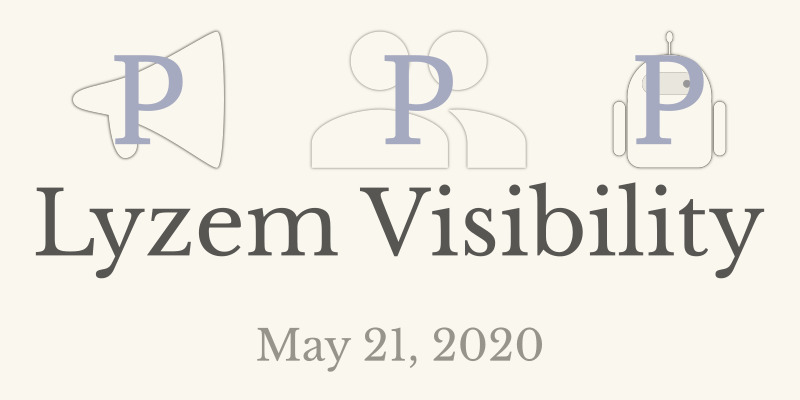 05/21/2020 Lyzem Visibility will be online